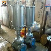 温州ZXDA中旭达气动钢制平行式双闸板闸阀、气动闸阀、闸阀